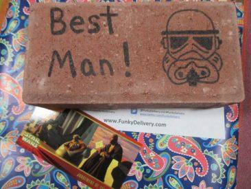 Best Man Star Wars Brick - Funky Delivery Brick