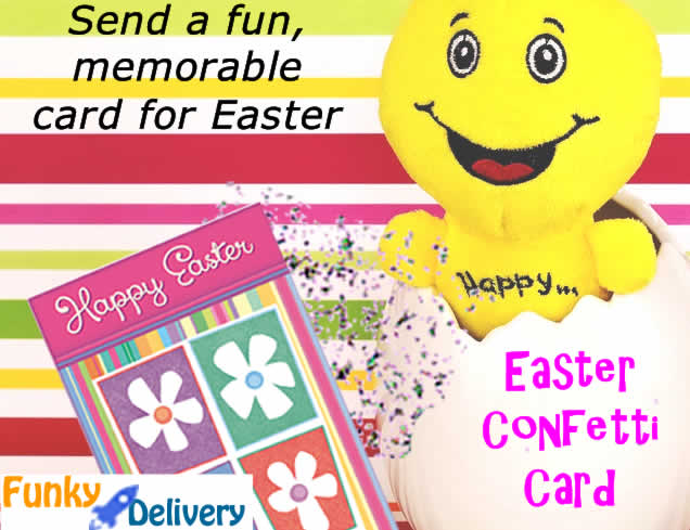 Easter Celebration Confetti Card