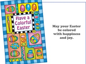 Have a Colorful Easter - Custom card