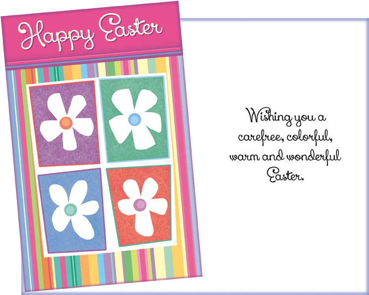 Happy Easter with Flowers Card - Fun, Personalized Easter Card