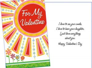 Love to see you smile, love to hear your laughter, love everything about you - Valentine's Day card