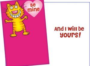 Smiling Cat Valentine Card