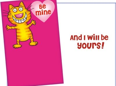 Smiling Cat Valentine Card