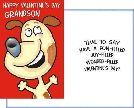 Happy Valentine's Day Grandson - Time to say have a fun-filled joy-filled wonder-filled Valentine's Day - Valentine Card