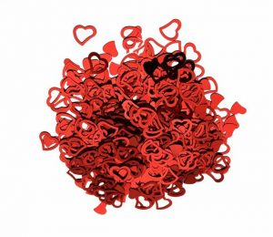 Red Heart Confetti for Cards