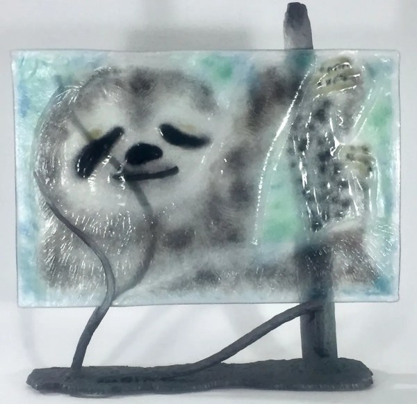 Three-Toed Pygmy Sloth Bas Relief by Dori Settles