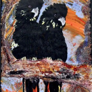 Seeking Allocasuarina Enamel Painting