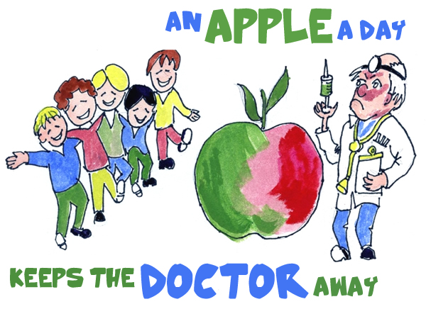 Image result for An apple a day keeps doctor away