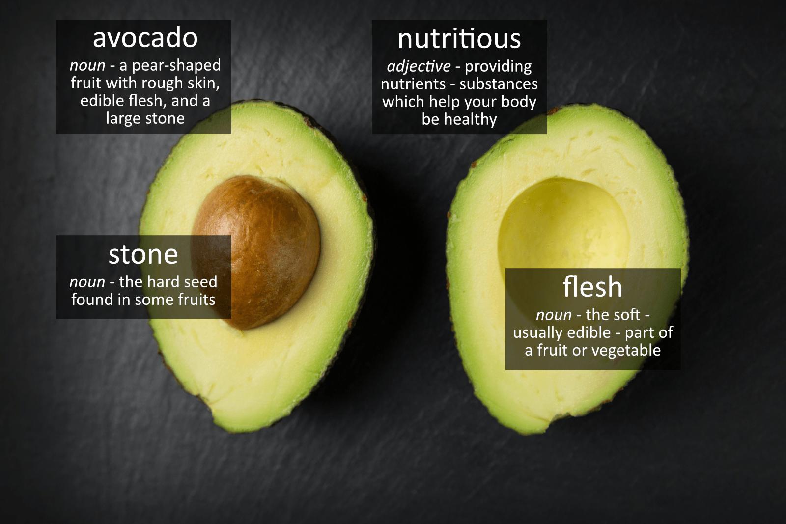 avocado vocabulary
