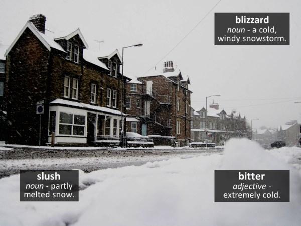 blizzard vocabulary