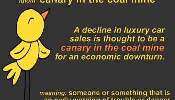 canary in the coal mine idiom