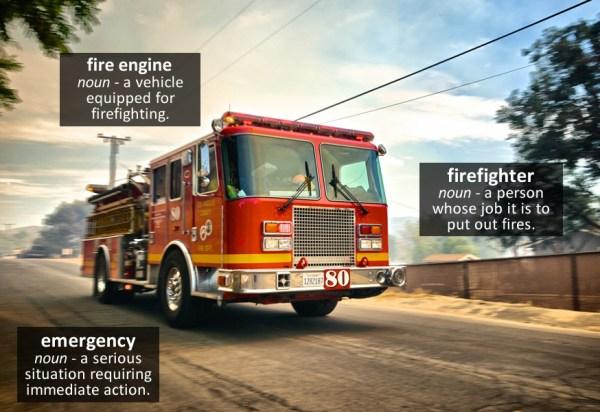 fire engine vocabulary
