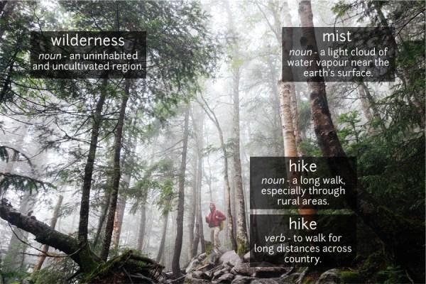 hiking vocabulary