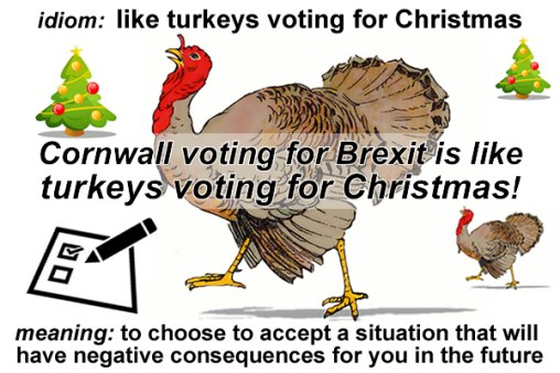 Like turkeys voting for Christmas