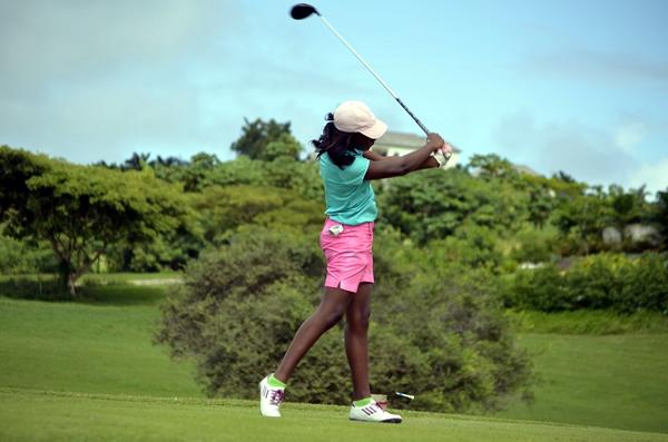 Yesterday I played golf.