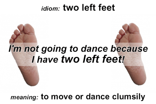 Idiom - two left feet