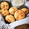 Muffins met banaan en fudge