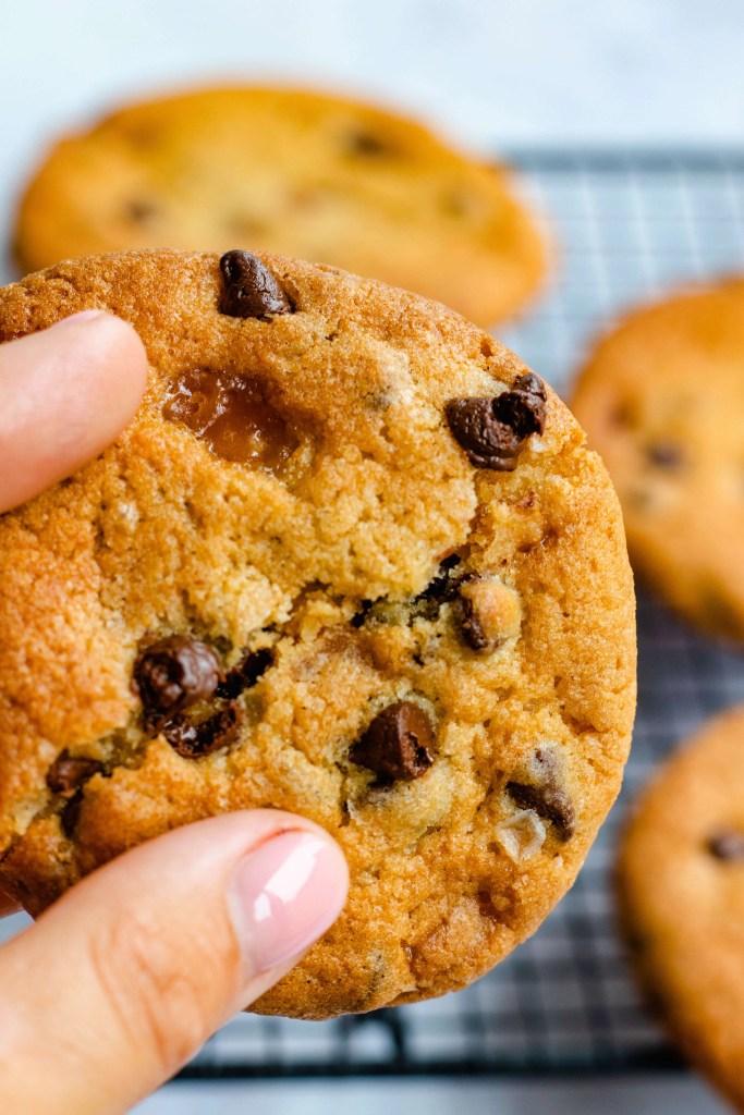 Salted Caramel Cookies met chocolade