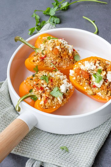 Recept voor gevulde paprika met couscous & feta