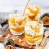 Recept voor toetje Eton mess met witte chocolade, mango & passievrucht
