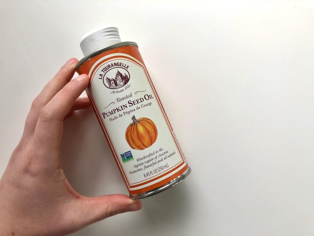la tourangelle pumpkin seed oil bottle
