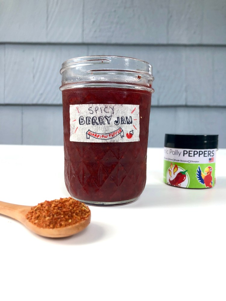 Spicy Berry Jam with Ground Scorpion Pepper