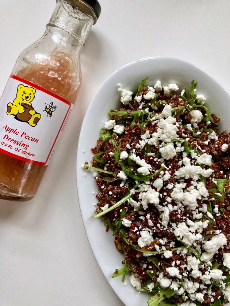 Quinoa Salad with Apple Pecan Dressing