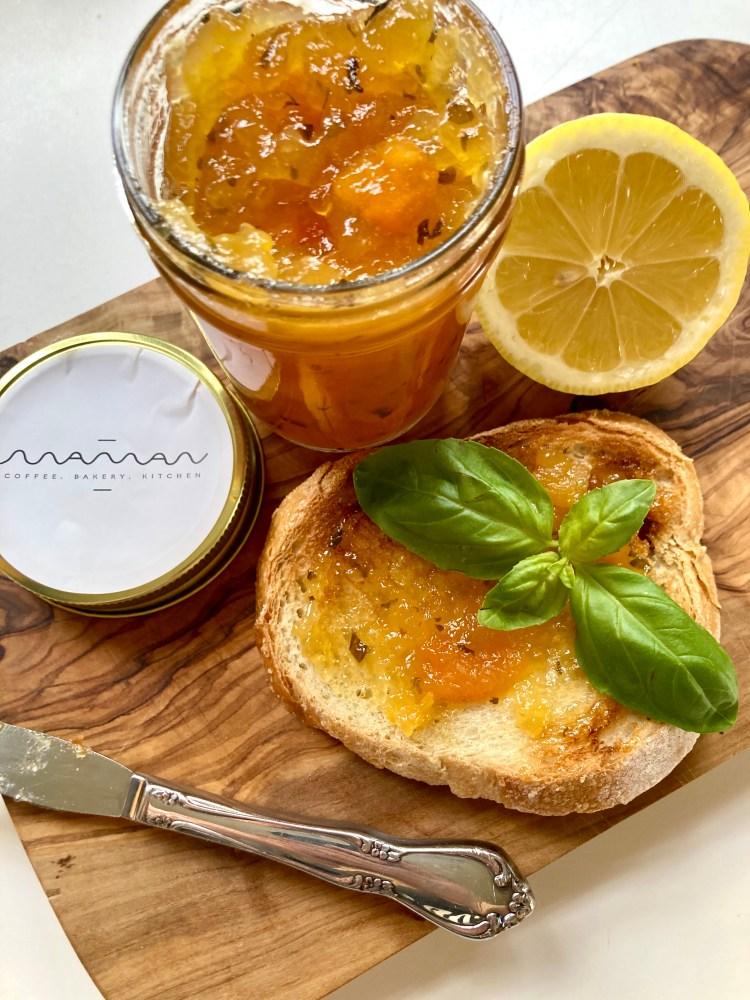Maman NYC Lemon Apricot Basil Jam
