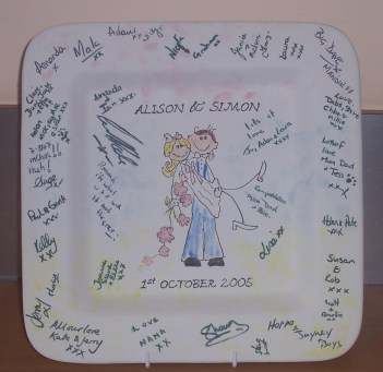 Wedding signing plate 1