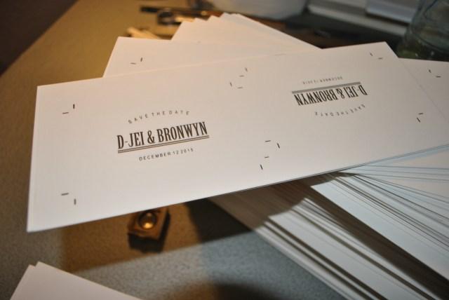 custom save the date letterpress cards