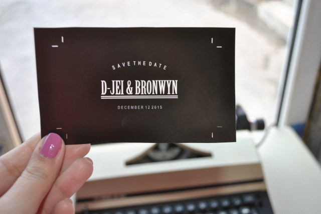 save the date film for letterpress polymer plate