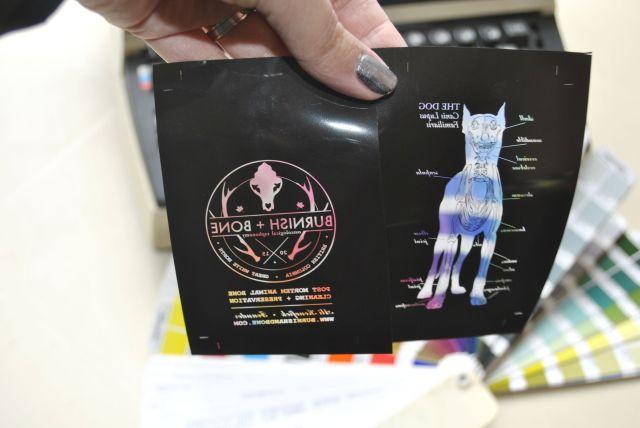 letterpress business cards film