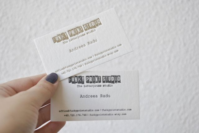 gold custom letterpress business cards