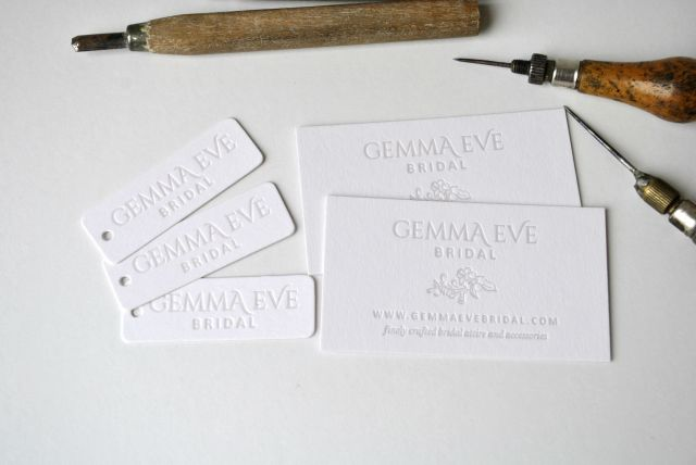 letterpress business cards and tags