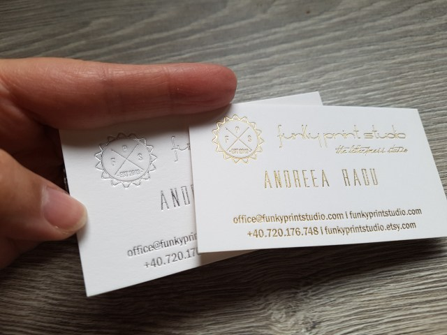 letterpress printing process hot foil business cards