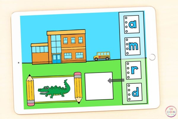 A fun back to school activity to learn letters and letter sounds.