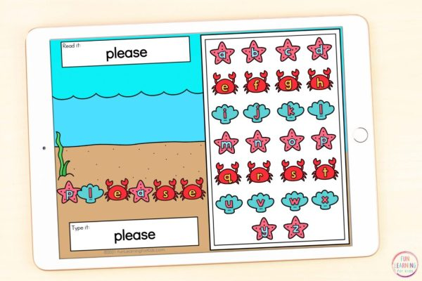 Free digital word work mats for your ocean theme literacy centers.