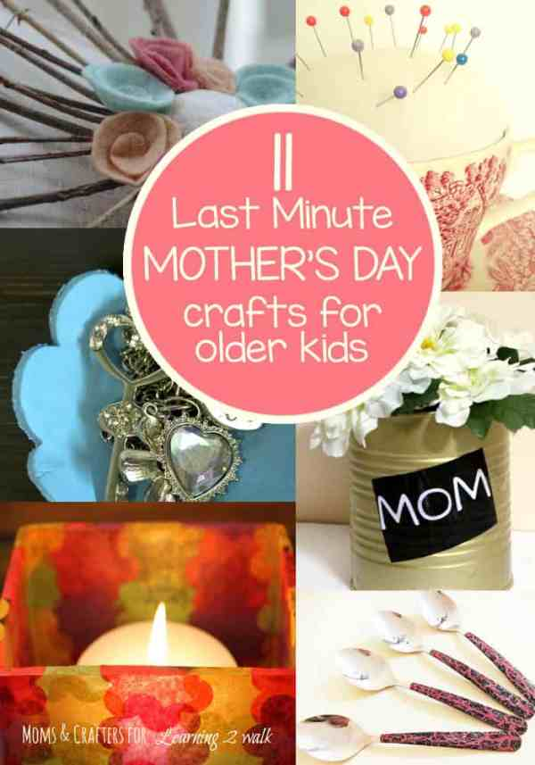 25 Last Minute Mother's Day Crafts for Kids