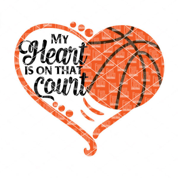 Download My heart is on that Basketball Court SVG - FunLurn SVG