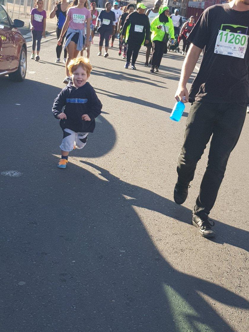 Hamish running