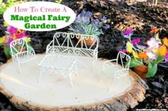 Magical fairy garden feature