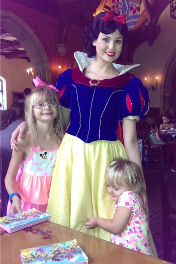 Meeting a princess during our Disney vacation
