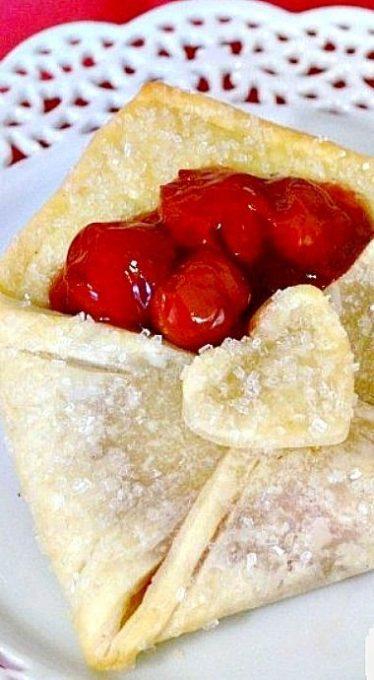 Cherry Pie Envelope Valentine's Day Desserts