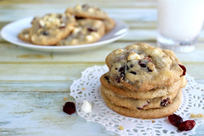 Mix it up a little with some delicious cranberry and white chocolate cookies