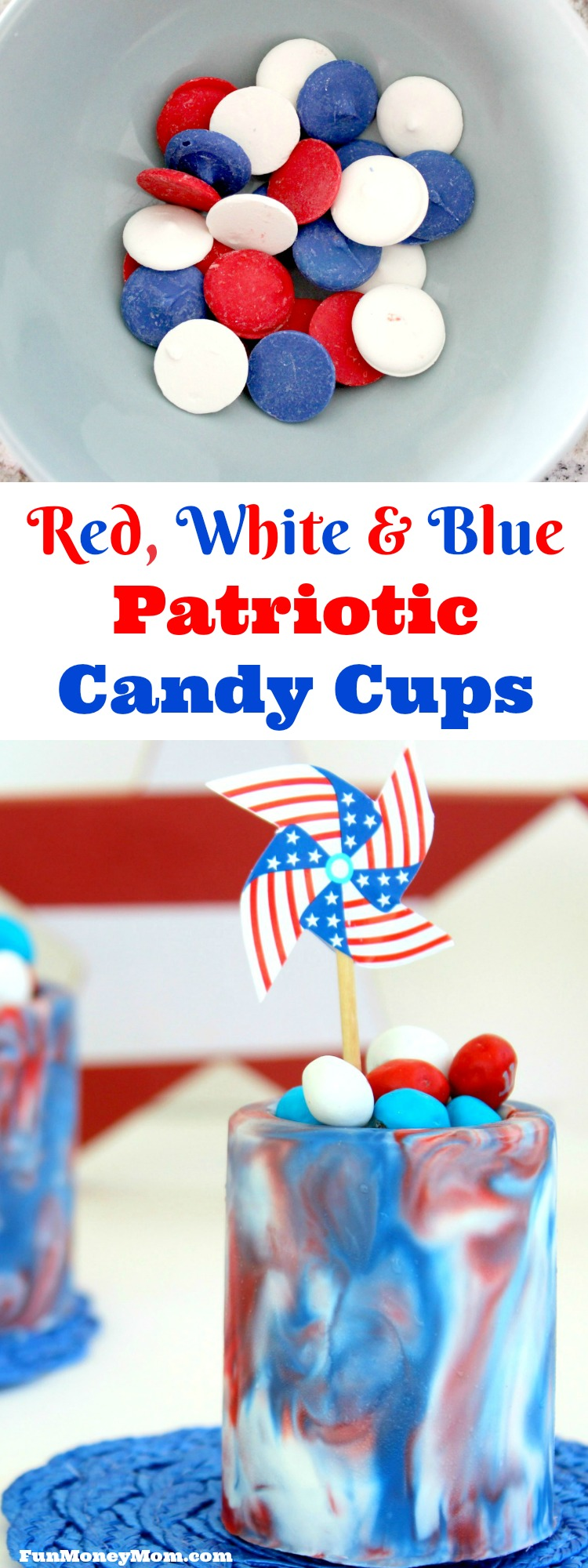 Red white and blue dessert cups