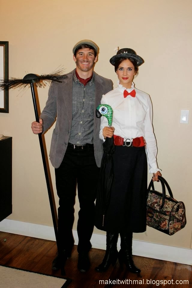 Mary Poppins & Bert Halloween costumes for couples