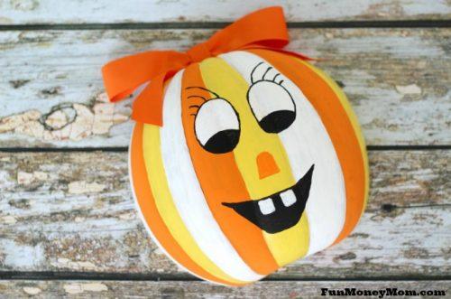 Jack o lantern candy bowl feature