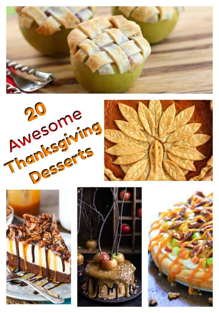 Thanksgiving desserts - These Thanksgiving dessert recipes will have your mouth watering! From holiday pies, Thanksgiving cakes and even Thanksgiving desserts for kids, there's a perfect holiday recipe for everyone. #thanksgiving #thanksgivingrecipes #thanksgivingdesserts #thanksgivingpie #holidaypie #thanksgivingdinner
