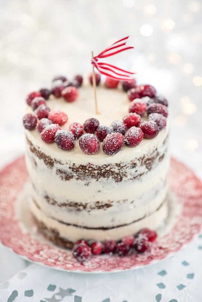 Cranberry Orange And Walnut Christmas Cake