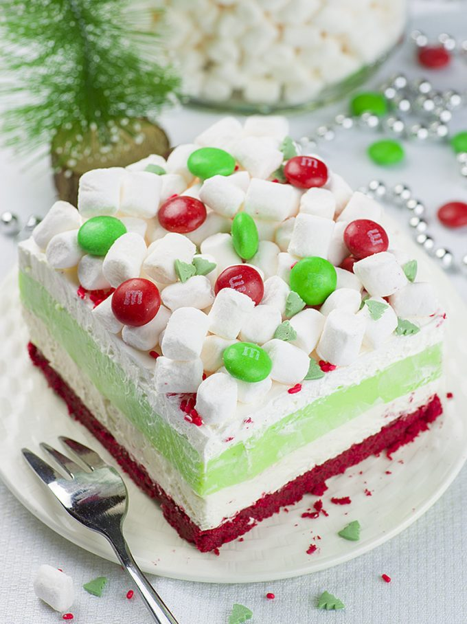 Christmas Lasagna is on the list of Christmas desserts for kids